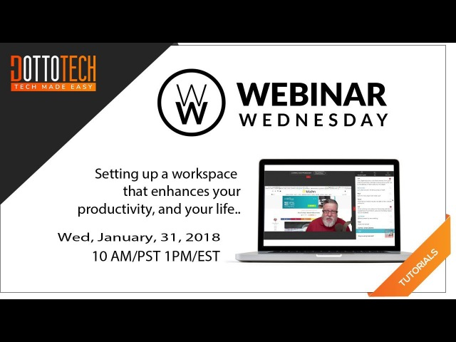 Setting Up Your Workspace for Productivity and Zen Webinar Replay online for 48 hours