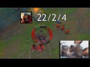 Faker Zed Long time no see - Pizza Guy Facecam - Imaqtpie - Funny Stream Moments 43 - LoL