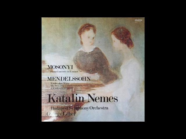 Mosonyi Piano Concerto In E Minor / Katalin Nemes / Budapest Symphony Orchestra, György Lehel (1983)