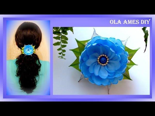 Цветы из атласных лент/ DIY Flower hair clip/ Flores de fitas/ Ola ameS DIY