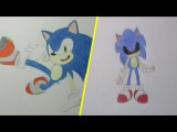 How to Draw Sonic vs Sonic.EXE