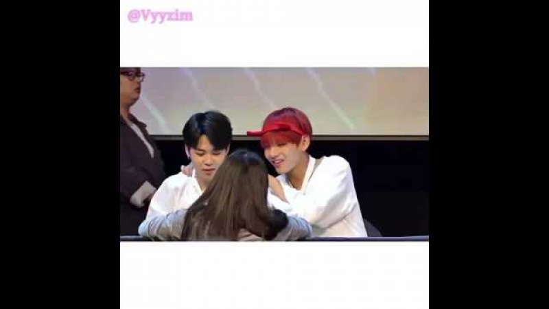 [FANCAM] 160513 - 160512 JIMIN at Sinchon Mokdong fansign ( Cute moment )