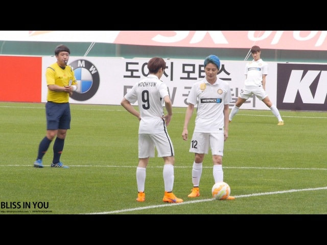 150517 FC-MEN 제주도 자선축구경기 인피니트(INFINITE) 우현 -남메시 짱!!