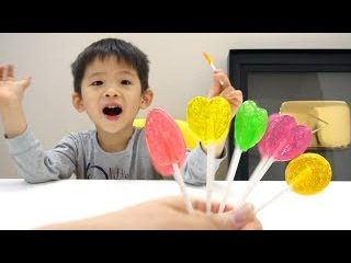 YouTube Gold Play Button, 2M subscribers - Learn colors with colorfull lollipops, Finger family song