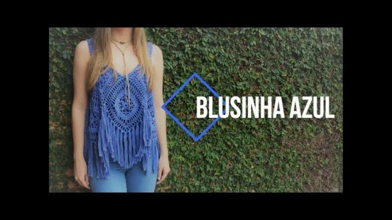 [teaser] Blusinha Azul c/ Franjas em crochê