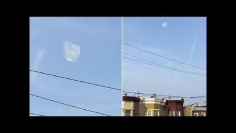 OVNI-une énorme boule blanche ce déplace à une vitesse incroyable(03/01/2018 NEW YORK)