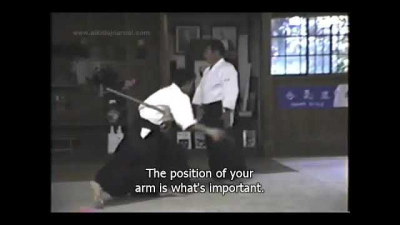 Saito Sensei Jo dori Jo Nage Sept 1988 Айкидо Ивама Сайто Сенсей джодори