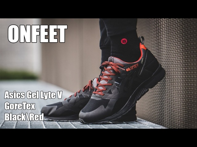 Asics Gel Lyte V Goretex Black\Red Onfeet Review | sneakers.by