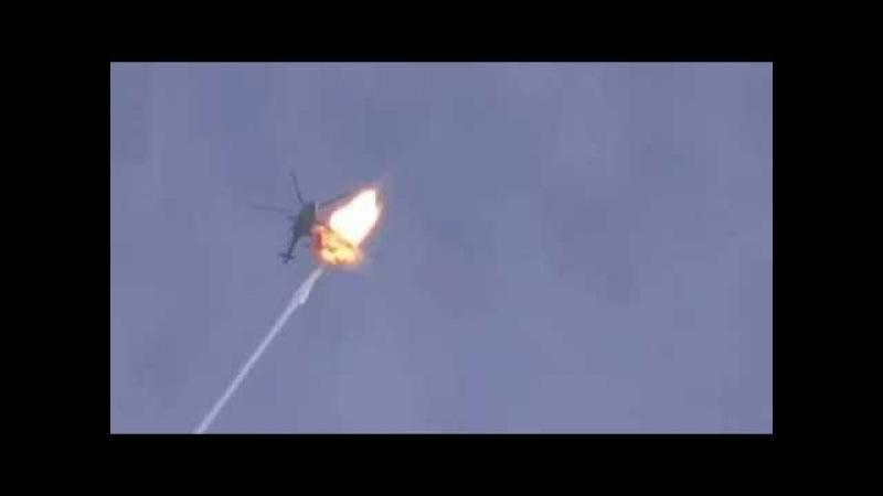 Сирия Ракета ПЗРК взорвалась рядом с МИ 8