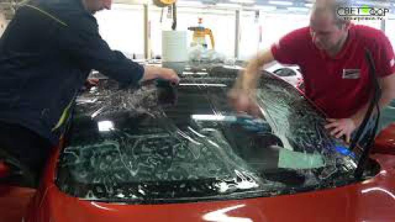 Новая защитная пленка на лобовое стекло авто - защита ветрового стекла от сколов...