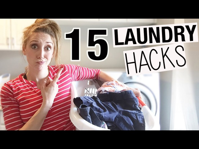 15 Laundry HACKS to make Laundry Faster Easier! | Jordan Page