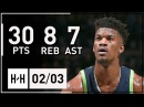 Jimmy Butler Full Highlights Timberwolves vs Pelicans (2018.02.03) - 30 Pts, 8 Reb, 7 Ast