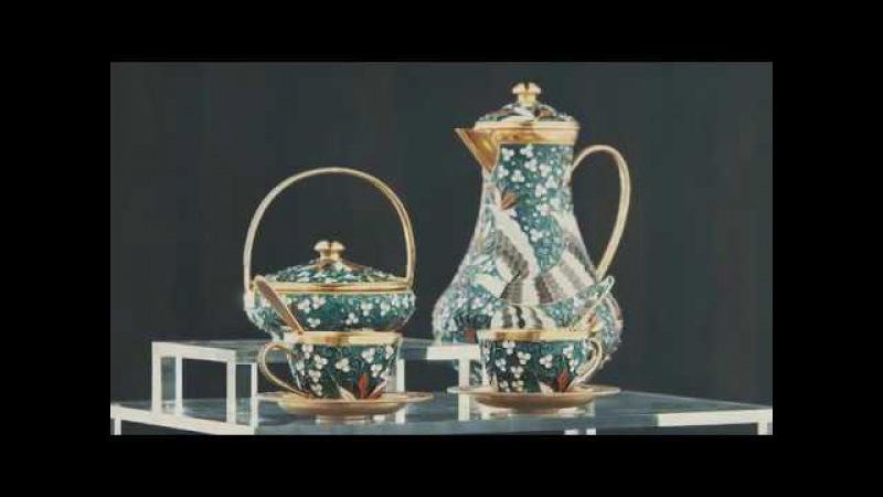 Создание эмалево-филигранной чайной пары. Русские самоцветы