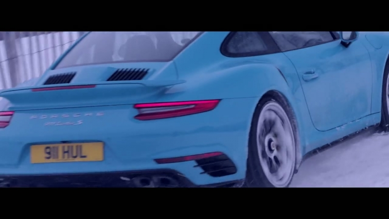 All-wheel drive taken to new heights. 911 Turbo S on a ski slope