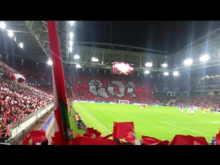Перфоманс на матче Спартак - Севилья.