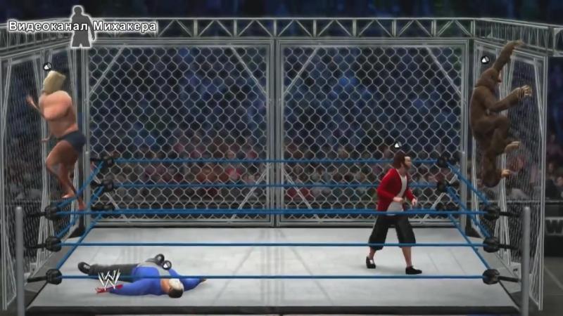[Михакер] WWE 2K14 - H2O Delirious и Basically против Nogla и Lui