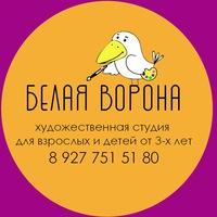 """Логотип Художественная""""Школа-Студия""""БЕЛАЯ ВОРОНА""""Самара"""