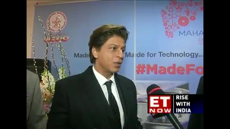 Shah Rukh Khan CMO Maharashtra Devendra Fadnavis interview t SupriyaShrinate at WEF18 Davos