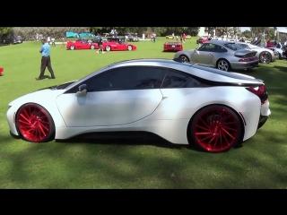 BMW i8 Hybrid Supercar on Vossen Wheels drive acceleration Miami Beach Conc.mp4