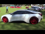 BMW i8 Hybrid Supercar on Vossen Wheels drive acceleration Miami Beach Conc.mp4