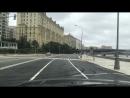Ранним утром по Москве - только что отремонтированные перед юбилейным днём города Краснопресненская набережная и Савинская набер