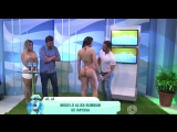 Hot Brazilian sexy bikini model is mad after her butt is grabbed by TV host on live television