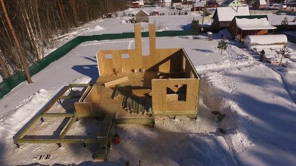 В работе - 15й дом по проекту Оптимум 👍👍👍 На этот раз - в п. Запорожское. #ультрасип_запорожское