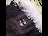 Серьги из серебра 925 пробы с кристаллами. Артикул С-167