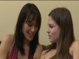 Lesbian MILF seducing a girl