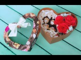 ABC TV How To Make Rose Paper Flower Gift Box For Valentine's Day - Craft Tutorial