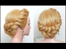 Simple Party Hairstyle For Girls. Long Hair Tutorial