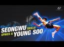 Sepak Takraw ● Seongwu Young Soo ● Spikes Skills | HD