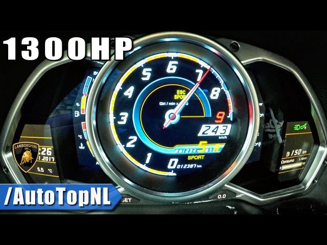 1300HP Lamborghini Aventador V12 BiTurbo 0-250km/h by AutoTopNL