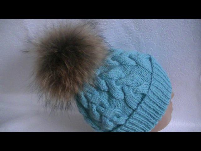 Вязание шапки узором