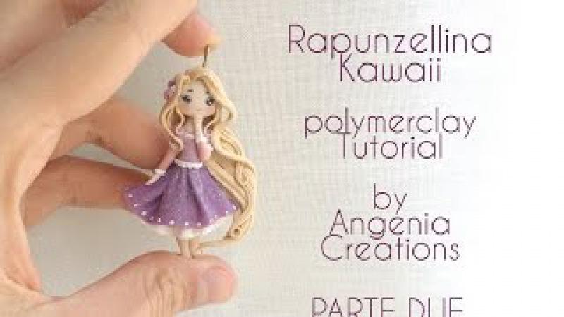 Tutorial angenioso - Rapunzellina kawaii in fimo/ make a doll - livello super base - parte 2