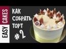 КАК СОБРАТЬ ТОРТ от А до Я КАК выровнять бисквитный торт кремом быстро и просто