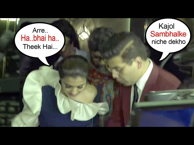 Karan Johars Sweet Gesture For Kajol Taking CARE Of Her In Public After End Of FIGHT