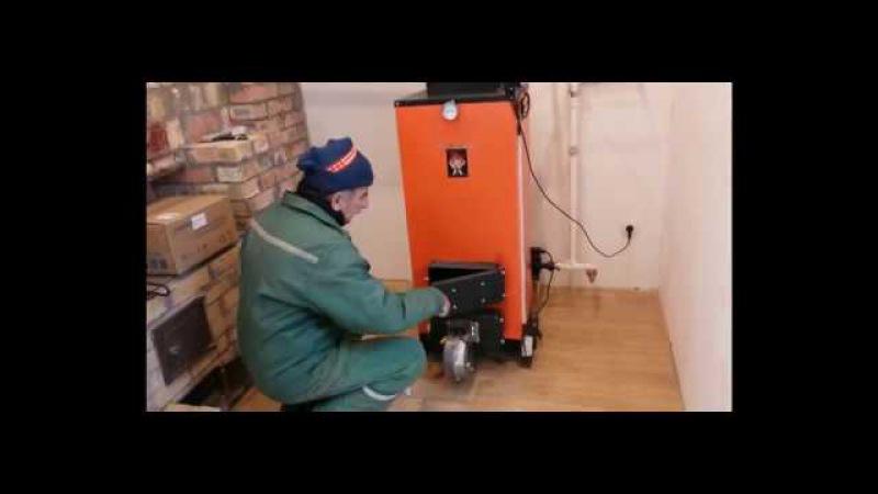 Видео отзыв Григория о котле Dans Calor серия Комфорт 10кВт длительного горения