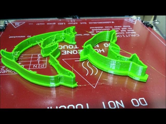 Таймлапс 2часа 3d печати в 20-секундах