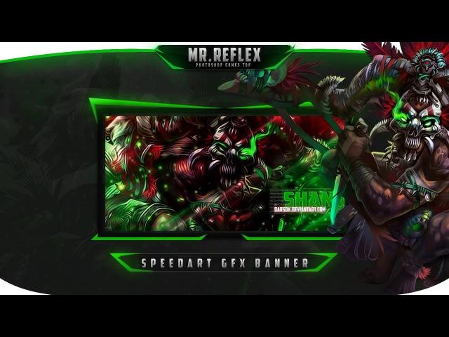 Видео урок [Баннер в стиле GFX | SpeedArt] от DarsoX | Mr.REFlex