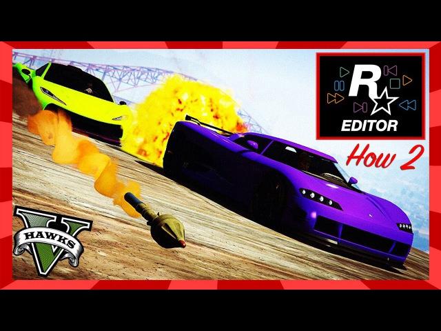 GTA Online Rockstar Editor Tutorial - How 2 Pan Camera n Cut Clips (Rockstar Editor Tips n Tricks)