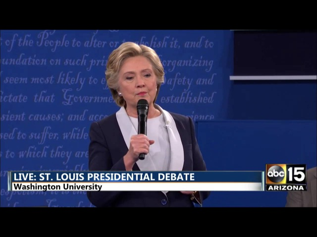 Presidential Debate - DT: Bc you'd be in jail! - Hillary Clinton vs. Donald Trump