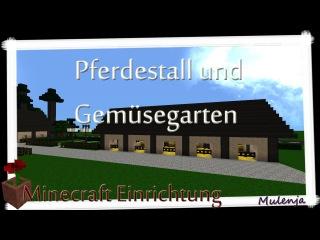 MINECRAFT - Bauernhof #08 - Pferdestall und Gemüsegarten / Einrichten in Minecraft