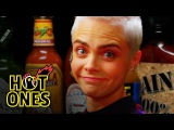 Cara Delevingne Shows Her Hot Sauce Balls While Eating Spicy Wings Hot Ones