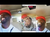 50 cent drive car with son Instagram Live