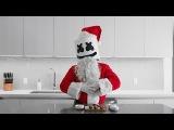 Cooking with Marshmello How To Make Strawberry Santas (Christmas Edition)