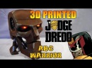 3D Printed Judge Dredd ABC Warrior | Rust LED Eyes |