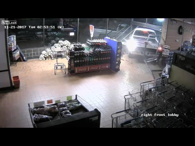 Thieves crash truck into store, drives away with ATM