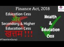 Income Tax Education Cess Secondary Higher Education Cess Ended Health Education Cess Started