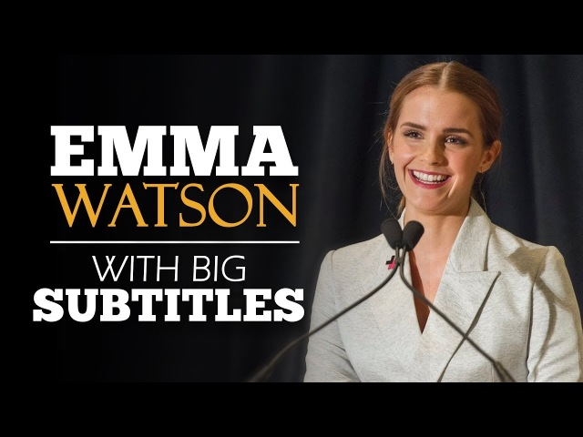 LEARN ENGLISH | EMMA WATSON: Gender Equality | SPEECH with BIG SUBTITLES